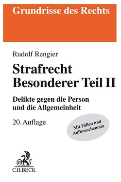 Strafrecht Besonderer Teil II von Rengier,  Rudolf