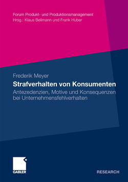 Strafverhalten von Konsumenten von Meyer,  Frederik