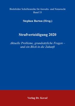 Strafverteidigung 2020 von Barton,  Stephan
