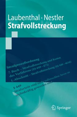 Strafvollstreckung von Laubenthal,  Klaus, Nestler,  Nina