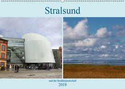 Stralsund und die Boddenlandschaft (Wandkalender 2019 DIN A2 quer) von Dürr,  Brigitte