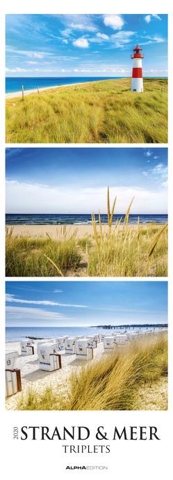 Strand & Meer Triplets 2020 – Beach & Ocean – Streifenkalender XXL (25 x 69) – Küste – Landschaftskalender – Natur – Bildkalender – Wandkalender von ALPHA EDITION