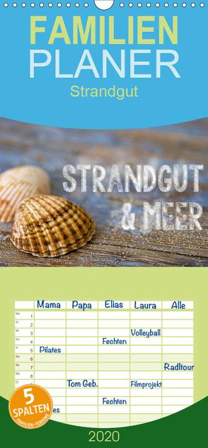 Strandgut und Meer – Familienplaner hoch (Wandkalender 2020 , 21 cm x 45 cm, hoch) von Haase,  Andrea