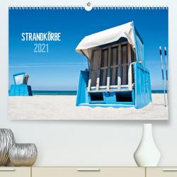 Strandkörbe 2021 (Premium, hochwertiger DIN A2 Wandkalender 2021, Kunstdruck in Hochglanz) von Kerpa,  Ralph