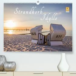 Strandkorb Idylle (Premium, hochwertiger DIN A2 Wandkalender 2021, Kunstdruck in Hochglanz) von Mueringer,  Christian