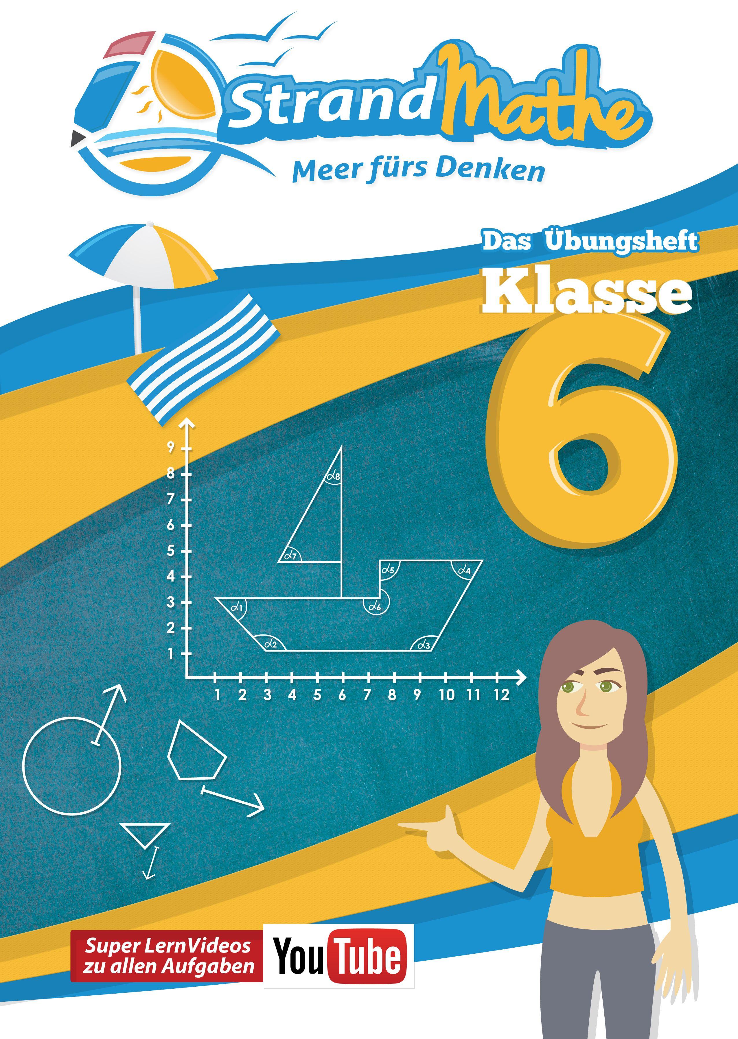 StrandMathe Übungsheft Mathe Klasse 6 – mit kostenlosen Lernvideos