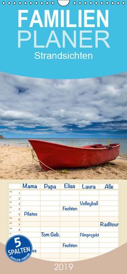 Strandsichten – Familienplaner hoch (Wandkalender 2019 , 21 cm x 45 cm, hoch) von Klinder,  Thomas