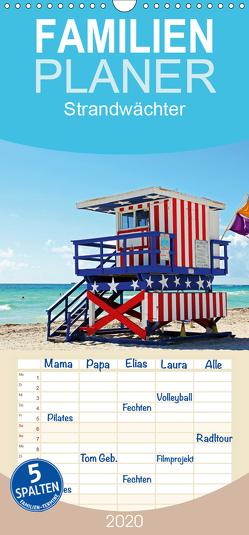 Strandwächter – Familienplaner hoch (Wandkalender 2020 , 21 cm x 45 cm, hoch) von Damm,  Andrea