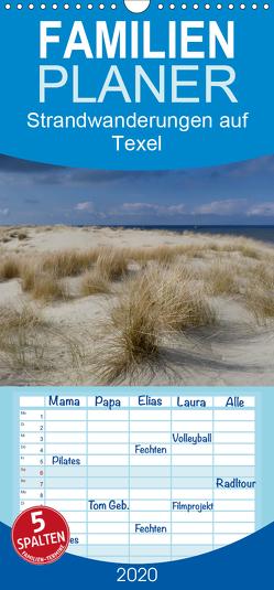 Strandwanderungen auf Texel – Familienplaner hoch (Wandkalender 2020 , 21 cm x 45 cm, hoch) von Stehlmann,  Ute