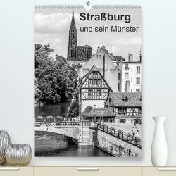 Straßburg und sein Münster (Premium, hochwertiger DIN A2 Wandkalender 2021, Kunstdruck in Hochglanz) von Sock,  Reinhard