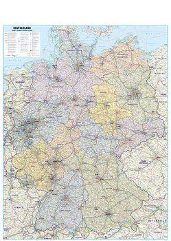 Straßenkarte Deutschland 1:700.000