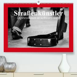 Straßenkünstler. Impressionen in schwarz-weiß (Premium, hochwertiger DIN A2 Wandkalender 2020, Kunstdruck in Hochglanz) von Stanzer,  Elisabeth