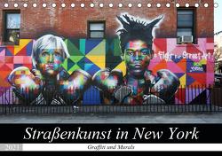 Straßenkunst in New York – Graffiti und Murals (Tischkalender 2021 DIN A5 quer) von gro