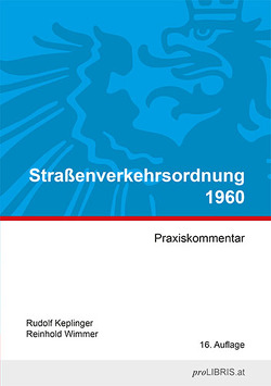 Straßenverkehrsordnung 1960 von Keplinger,  Rudolf, Wimmer,  Reinhold
