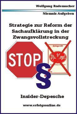 Strategie Zwangsvollstreckung 01.01.2013 von Rademacher,  Wolfgang