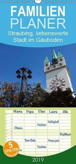 Straubing, liebenswerte Stadt im Gäuboden – Familienplaner hoch (Wandkalender 2019 , 21 cm x 45 cm, hoch) von Stein,  Karin