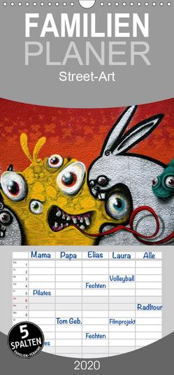 Street-Art 2020 – Familienplaner hoch (Wandkalender 2020 , 21 cm x 45 cm, hoch) von Stolzenburg,  Kerstin