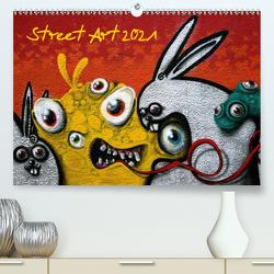 Street-Art 2021 / CH-Version (Premium, hochwertiger DIN A2 Wandkalender 2021, Kunstdruck in Hochglanz) von Stolzenburg,  Kerstin