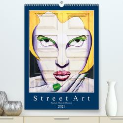 Street Art – Funchals Türen der Phantasie (Premium, hochwertiger DIN A2 Wandkalender 2021, Kunstdruck in Hochglanz) von Meyer,  Dieter