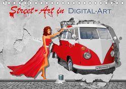 Street-Art in Digital-Art by Mausopardia (Tischkalender 2019 DIN A5 quer) von Jüngling alias Mausopardia,  Monika