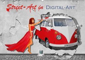 Street-Art in Digital-Art by Mausopardia (Wandkalender 2018 DIN A2 quer) von Jüngling alias Mausopardia,  Monika