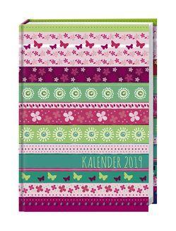 Streifen Floral Schülerkalender A6 – Kalender 2019 von Heye