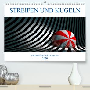 STREIFEN UND KUGELN (Premium, hochwertiger DIN A2 Wandkalender 2020, Kunstdruck in Hochglanz) von Hubmann,  Hellmut