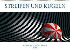 STREIFEN UND KUGELN (Wandkalender 2018 DIN A2 quer) von Hubmann,  Hellmut