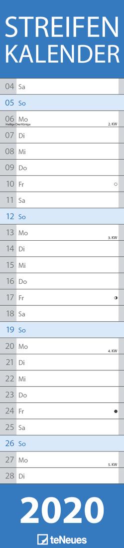 Streifenkalender BLAU 2020