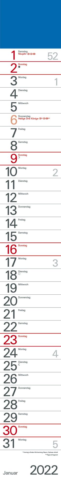 Streifenplaner Blau 2022 von Korsch Verlag