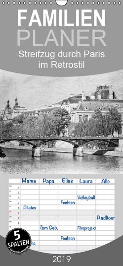 Streifzug durch Paris im Retrostil – Familienplaner hoch (Wandkalender 2019 , 21 cm x 45 cm, hoch) von und Udo Klinkel,  Ellen