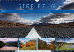 Streifzug durch Schottland (Wandkalender 2021 DIN A3 quer) von Cross,  Martina