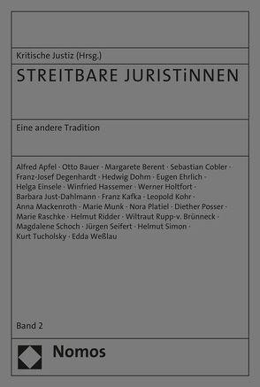 STREITBARE JURISTiNNEN von Redaktion Kritische Justiz