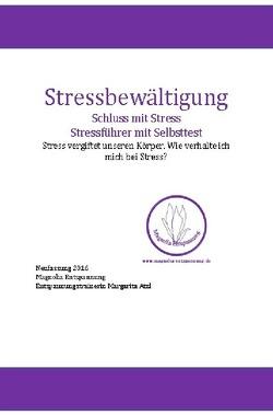 Stressbewältigung-Schluss mit Stress von Atzl,  Margarita