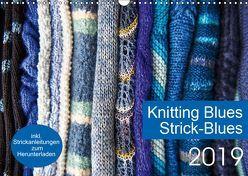 Strick-Blues (Wandkalender 2019 DIN A3 quer) von Gronert and Dagmara Berztiss,  Ulrike