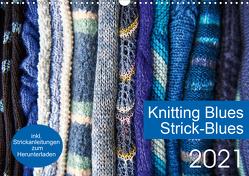 Strick-Blues (Wandkalender 2021 DIN A3 quer) von Gronert and Dagmara Berztiss,  Ulrike