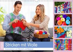 Stricken mit Wolle 2020. Impressionen von Mensch und Material (Wandkalender 2020 DIN A3 quer) von Lehmann (Hrsg.),  Steffani