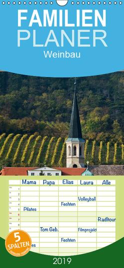 Strukturen im Weinbau – Familienplaner hoch (Wandkalender 2019 , 21 cm x 45 cm, hoch) von Braun,  Werner