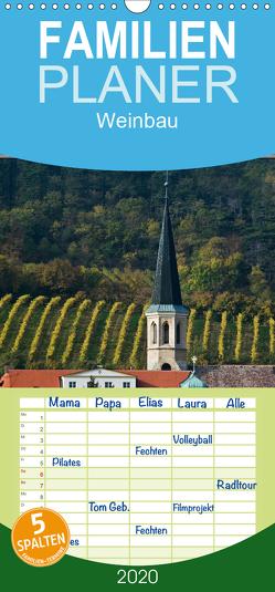 Strukturen im Weinbau – Familienplaner hoch (Wandkalender 2020 , 21 cm x 45 cm, hoch) von Braun,  Werner