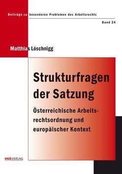 Strukturfragen der Satzung von Löschnigg,  Matthias