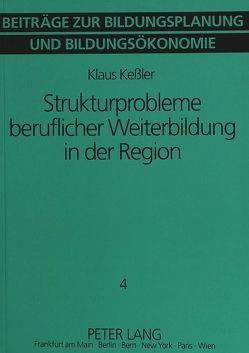 Strukturprobleme beruflicher Weiterbildung in der Region von Kessler,  Klaus