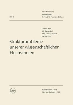 Strukturprobleme unserer wissenschaftlichen Hochschulen von Hess,  Gerhard