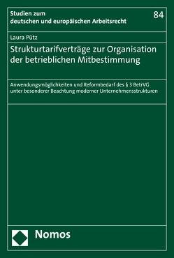 Strukturtarifverträge zur Organisation der betrieblichen Mitbestimmung von Pütz,  Laura
