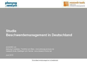 Studie Beschwerdemanagement in Deutschland