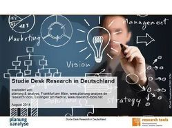 Studie Desk Research in Deutschland von planung & analyse, research tools