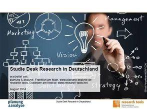 Studie Desk Research in Deutschland von planung & analyse, research tools