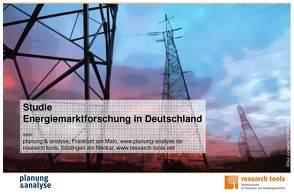 Studie Energiemarktforschung in Deutschland von planung & analyse, research tools