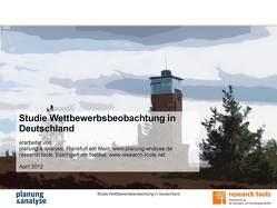 Studie Wettbewerbsbeobachtung in Deutschland von planung & analyse, research tools
