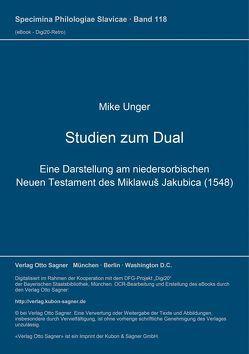 Studien zum Dual von Unger,  Mike