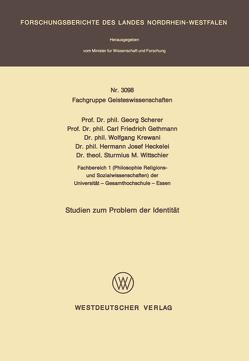 Studien zum Problem der Identität von Scherer,  Georg